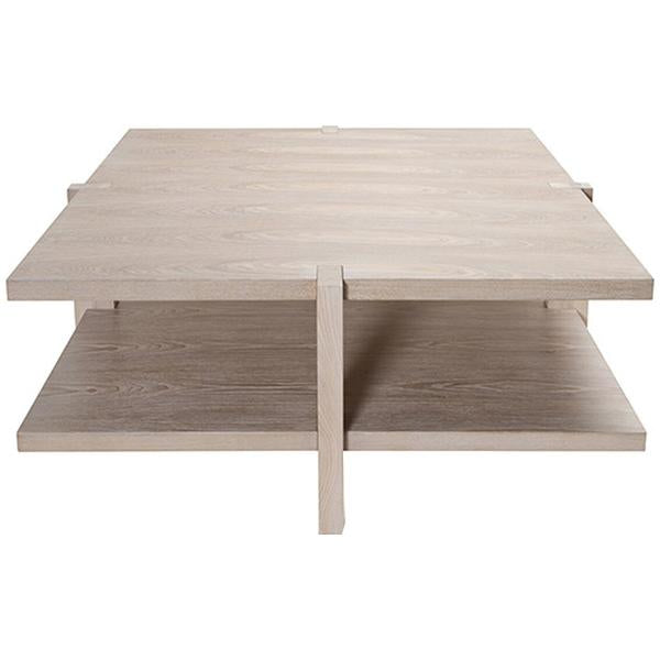 Worlds Away 2-Tier Square Coffee Table