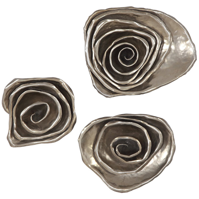Uttermost Amalie Metal Spiral Wall Decor - Set of 3