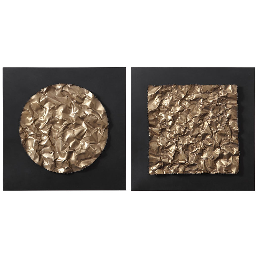 Uttermost Boaz Gold Wall Decor - Set of 2