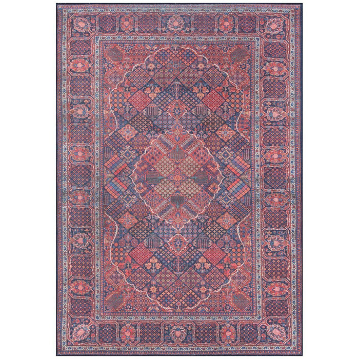 Momeni Afshar Turkish Machine Made AFS10 Navy Rug