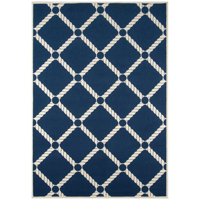 Momeni Baja Machine Made BAJ15 Navy Rug