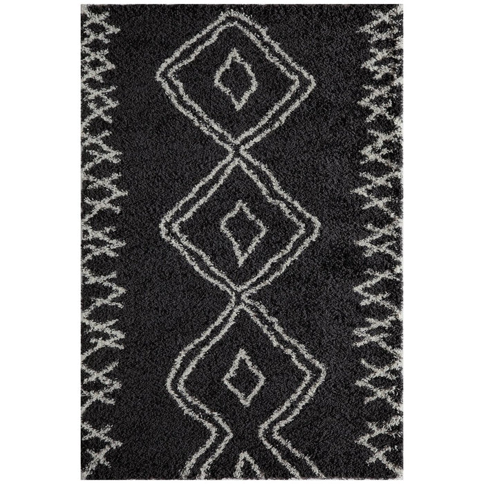 "Momeni Rug Maya Machine Made 9'-3"" X 12'-6"" Black Rug"