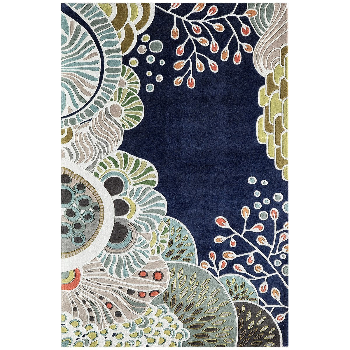 Momeni New Wave Hand Tufted NW146 Navy Rug