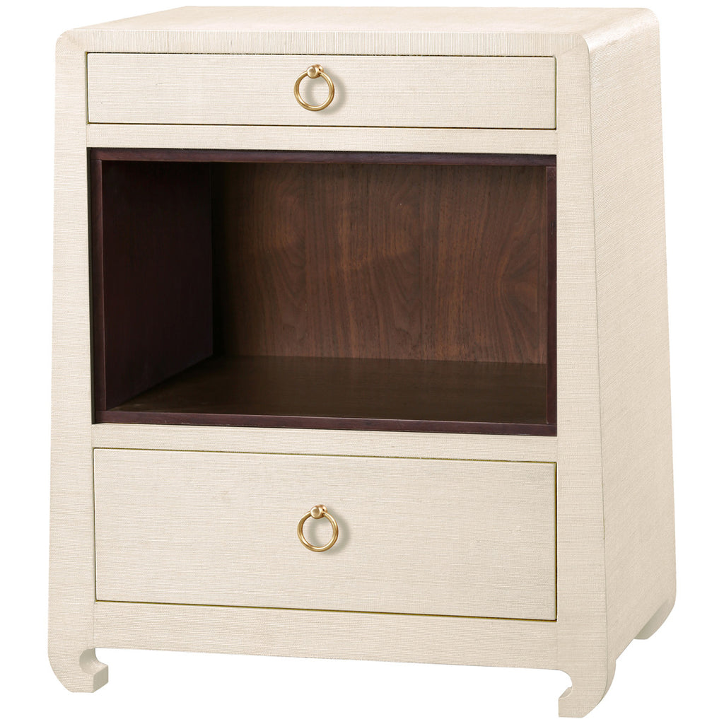 Ming 2-Drawer Side Table in Natural