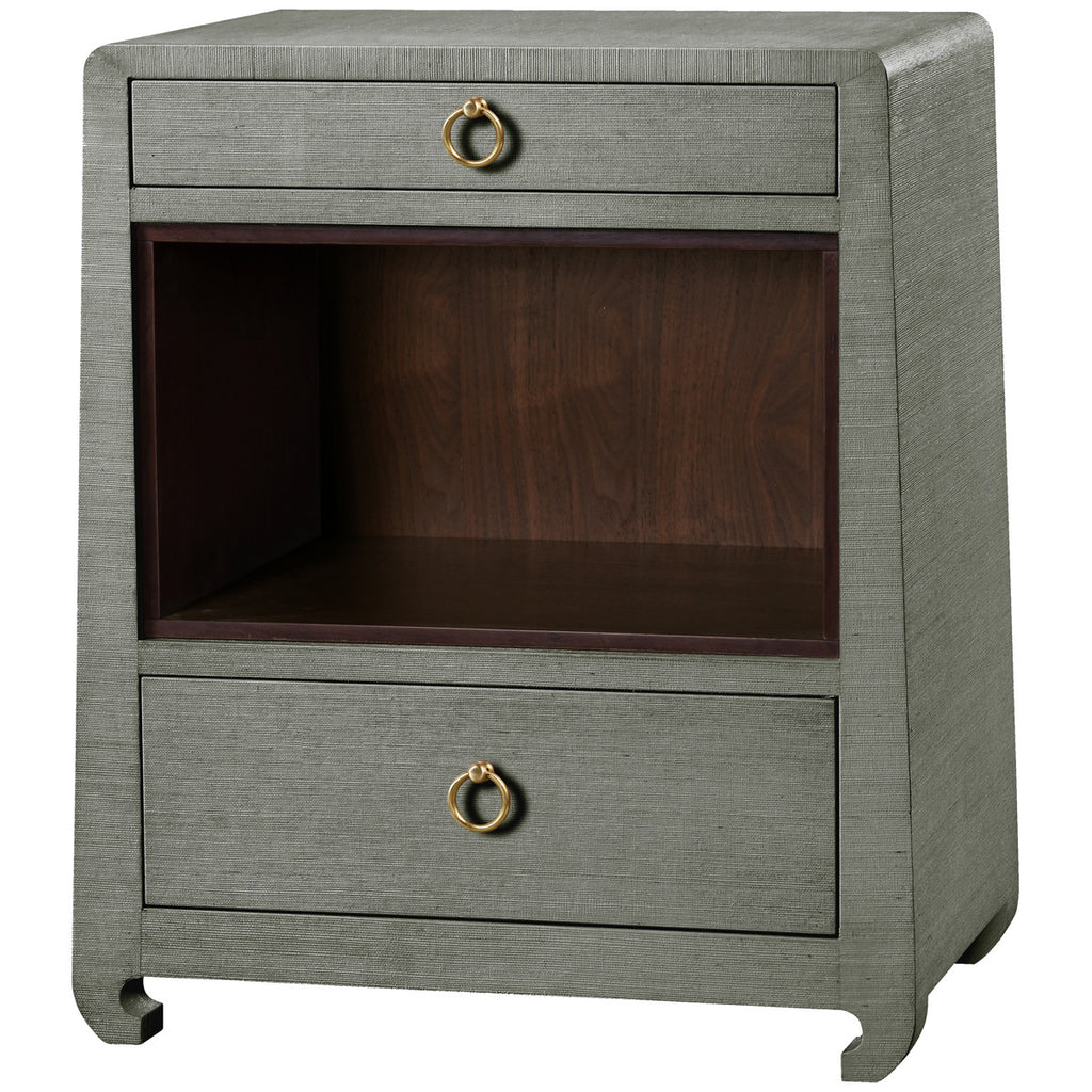 Ming 2-Drawer Side Table in Green