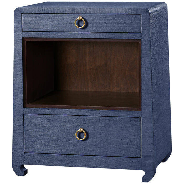 Ming 2-Drawer Side Table in Blue