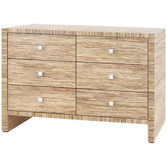Bungalow 5 Morgan Papyrus Extra Large 6-Drawer Dresser in Natural