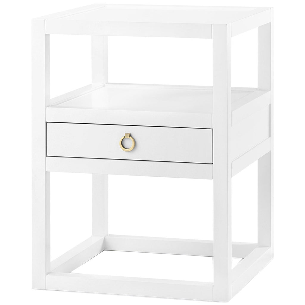 Bungalow 5 Newport 1-Drawer White Side Table