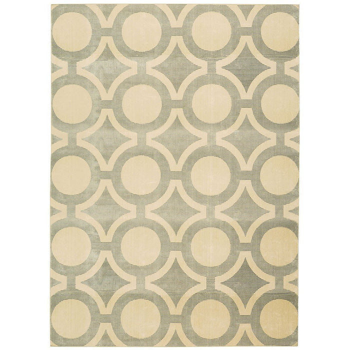 Nourison Luminance LUM01 Cream Grey Rug