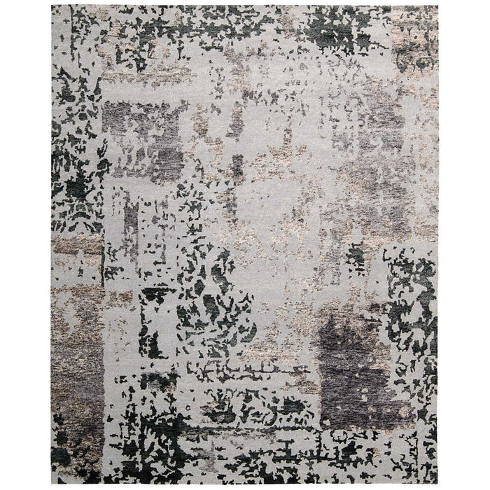 Nourison Silk Shadows SHA16 Silver Grey Rug