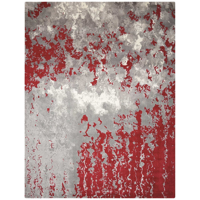 Nourison Twilight TWI21 Grey Red Rug