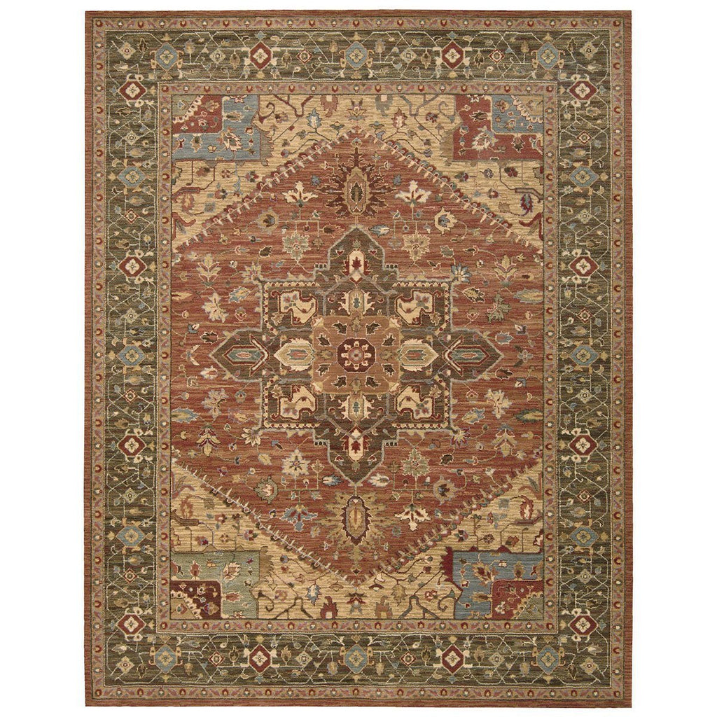 Nourison Living Treasures LI01 Rust Rug