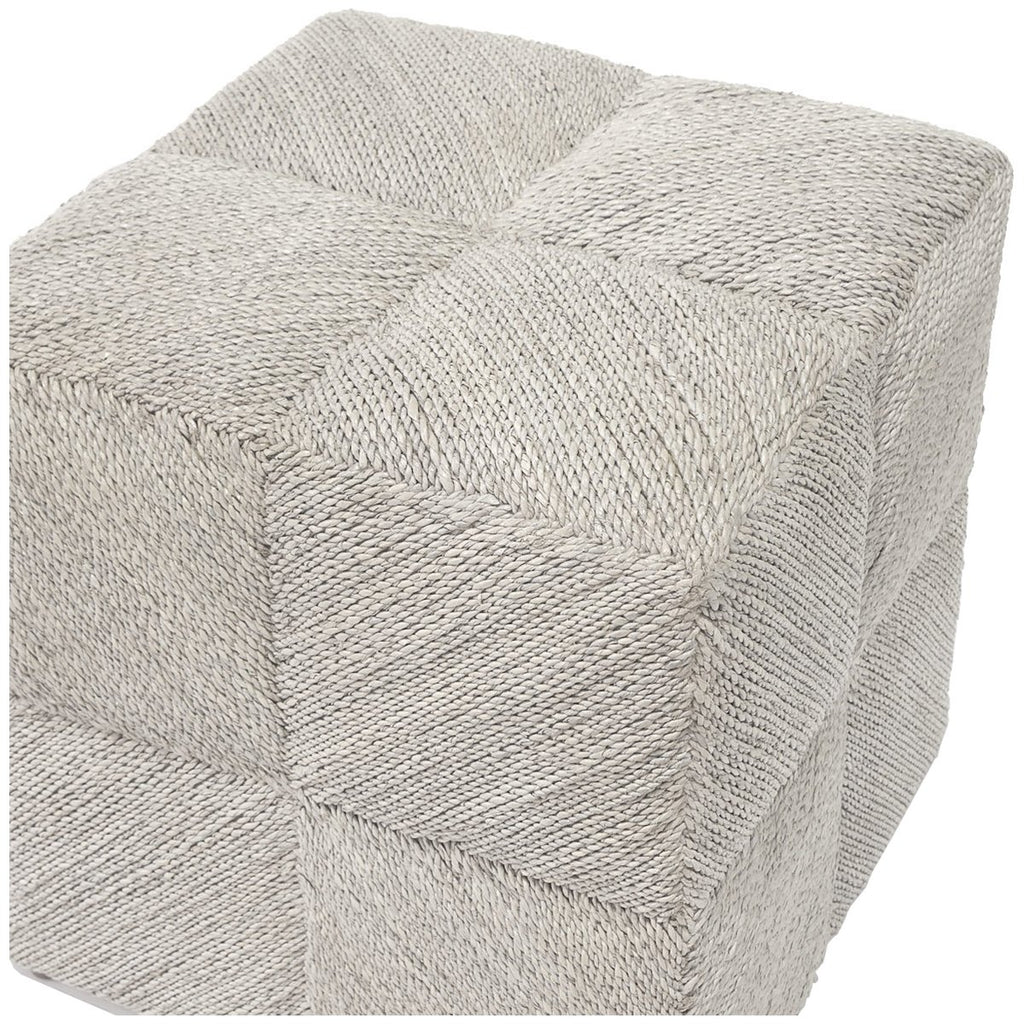 Palecek Ainsley White Wash Stool