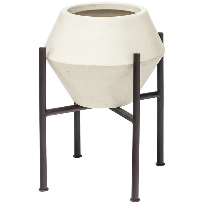 Palecek Nova Natural White Planter