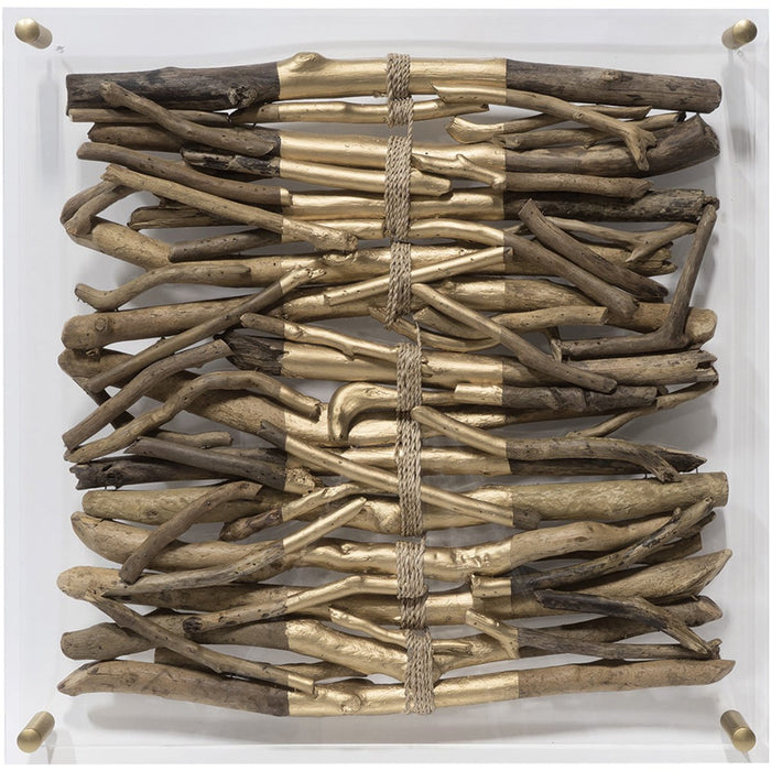 Palecek Acrylic Driftwood Wall Decor - Stripe