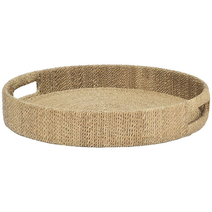 Palecek Monarch Round Tray - Natural