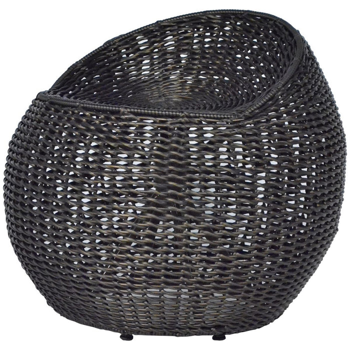 Palecek Outdoor Open Weave Wicker Swivel Stool