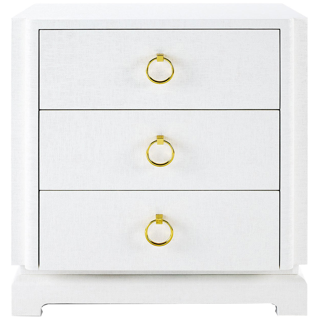 Bungalow 5 Pavel 3-Drawer White Side Table
