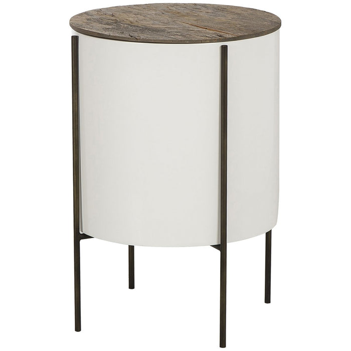 Thomas Bina Danica 17-Inch Tube Side Table - Peroba