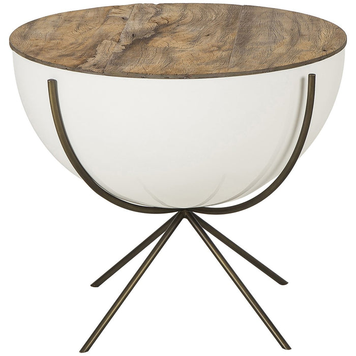 Thomas Bina Danica 24-Inch Bowl Side Table - Peroba