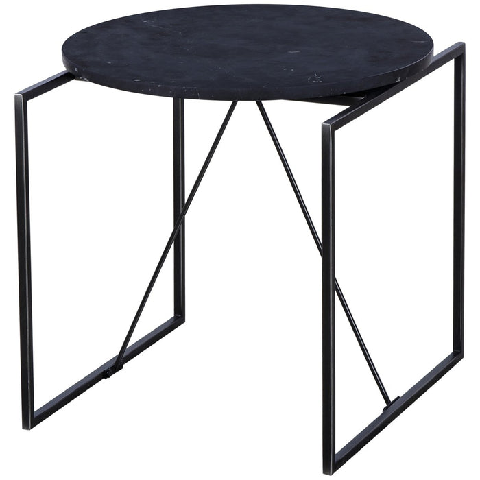 Thomas Bina Georgina Side Table - Black Marble