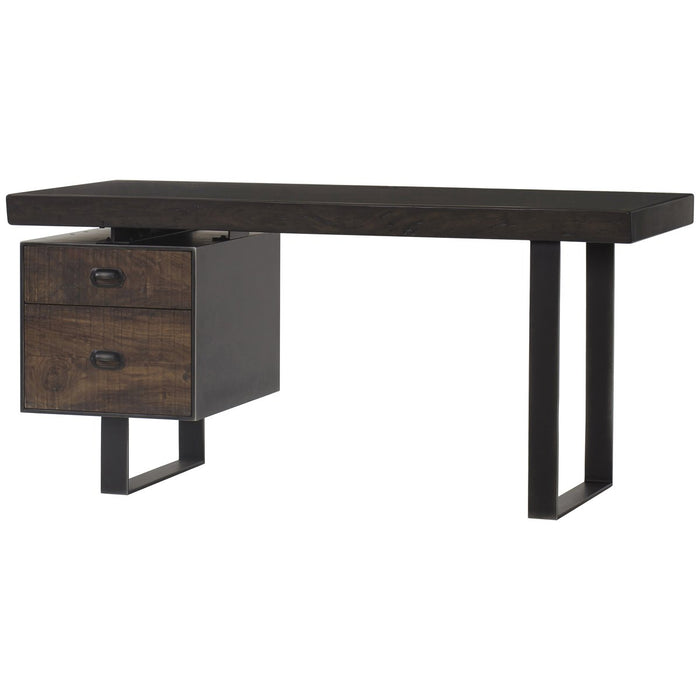 Thomas Bina Charles Single Ped Desk - Live Edge