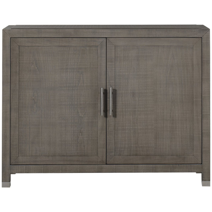 Maison 55 Raffles 2-Doors Credenza - Grey and Pewter