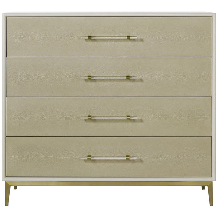 Maison 55 Alice 4-Drawer Chest - Emboss Faux Shagreen