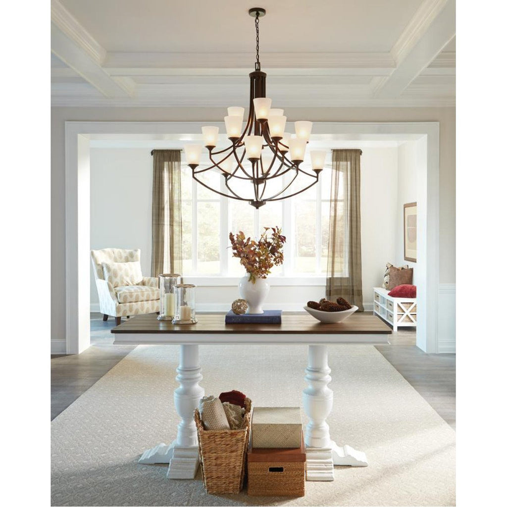 Sea Gull Lighting Hanford Transitional Fifteen Light Chandelier
