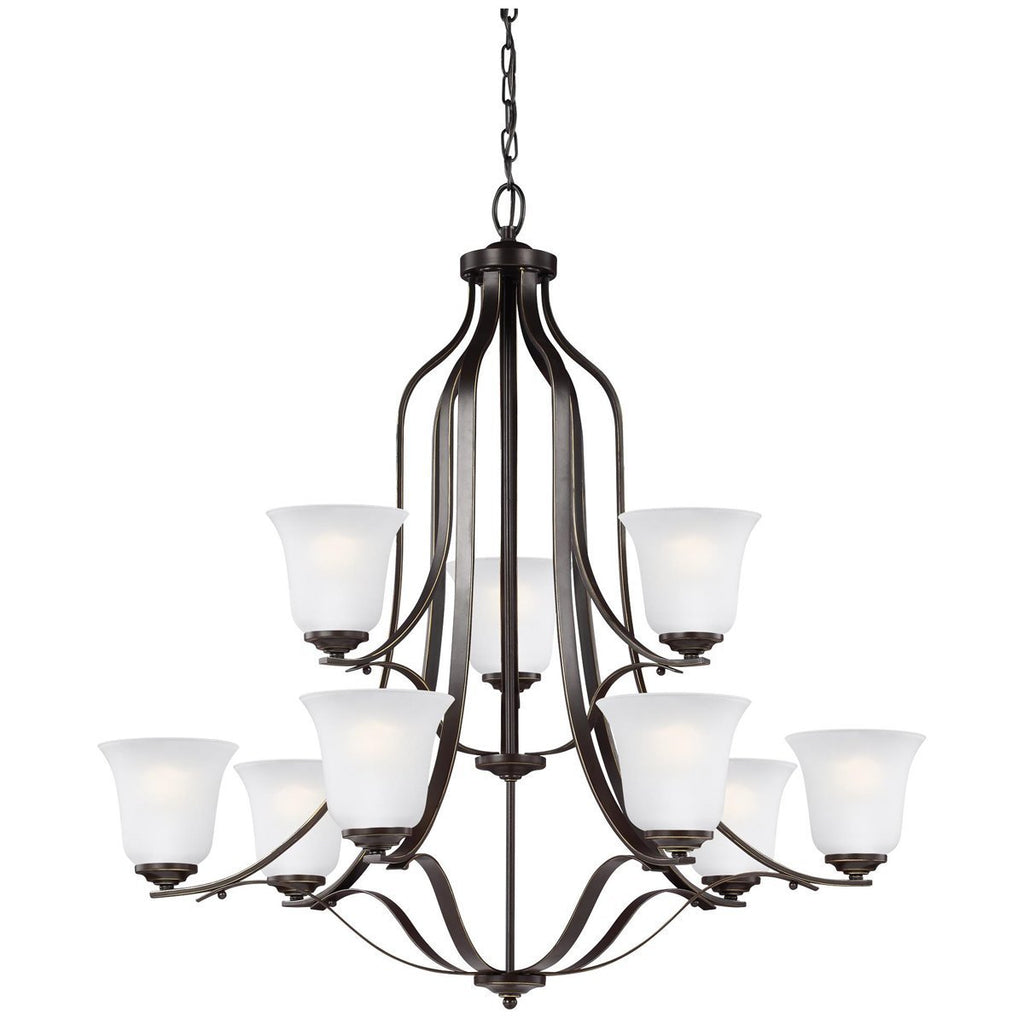 Sea Gull Lighting Emmons Nine Light Chandelier