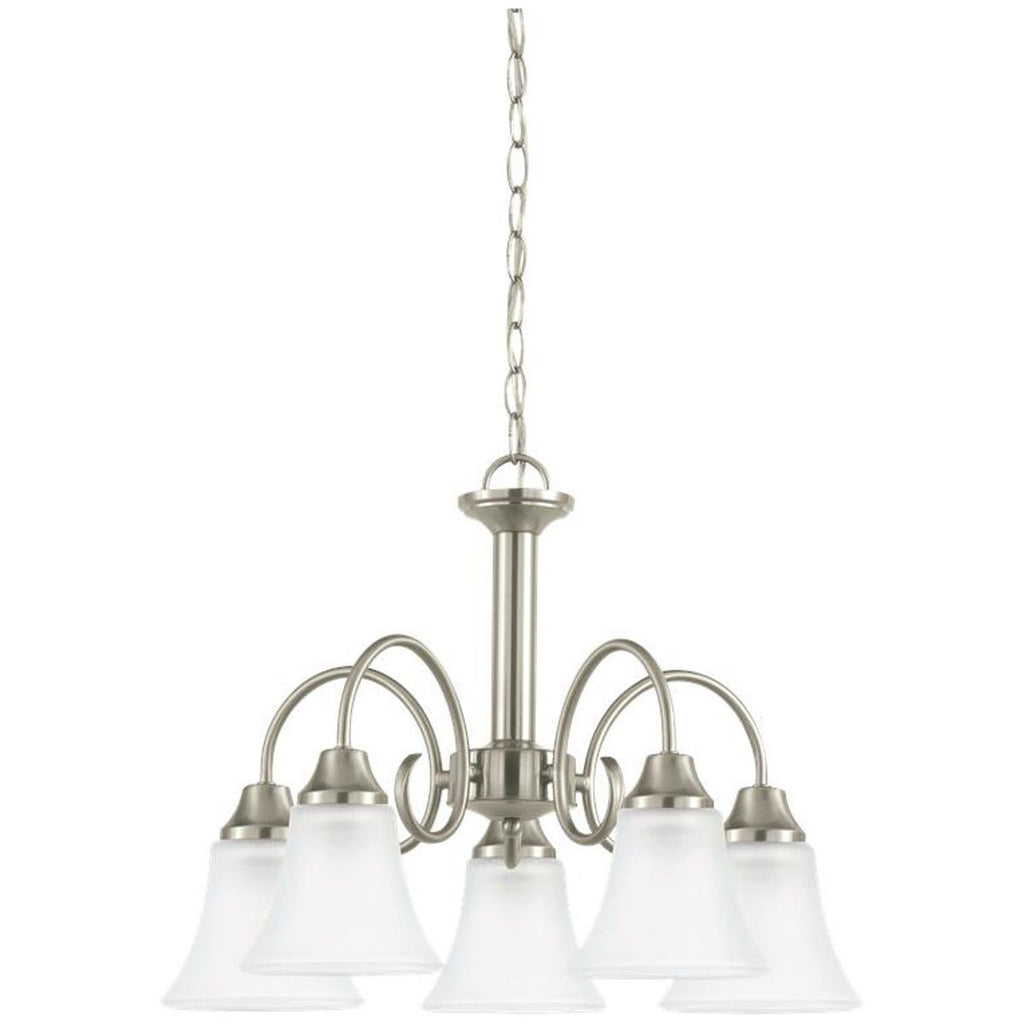 Sea Gull Lighting Holman Satin Etched Glass Five Light Chandelier