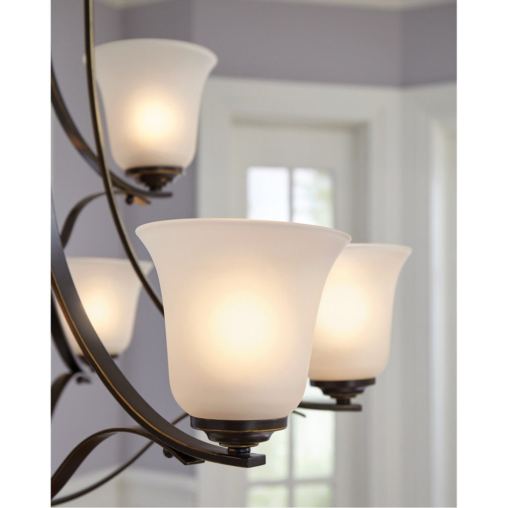 Sea Gull Lighting Emmons Four Light Wall Bath Chandelier