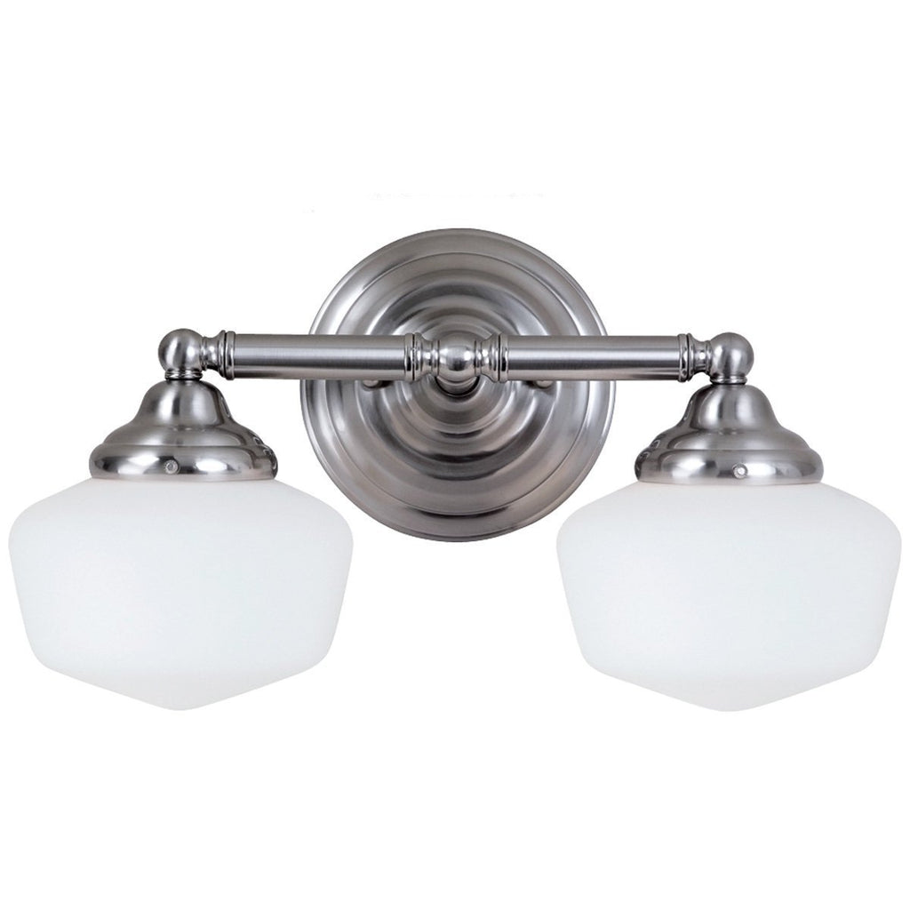 Sea Gull Lighting Academy Transitional Two Light Wall Bath Sconce