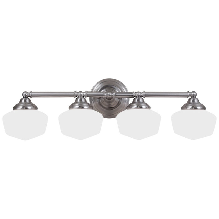 Sea Gull Lighting Academy Transitional Four Light Wall Bath Sconce
