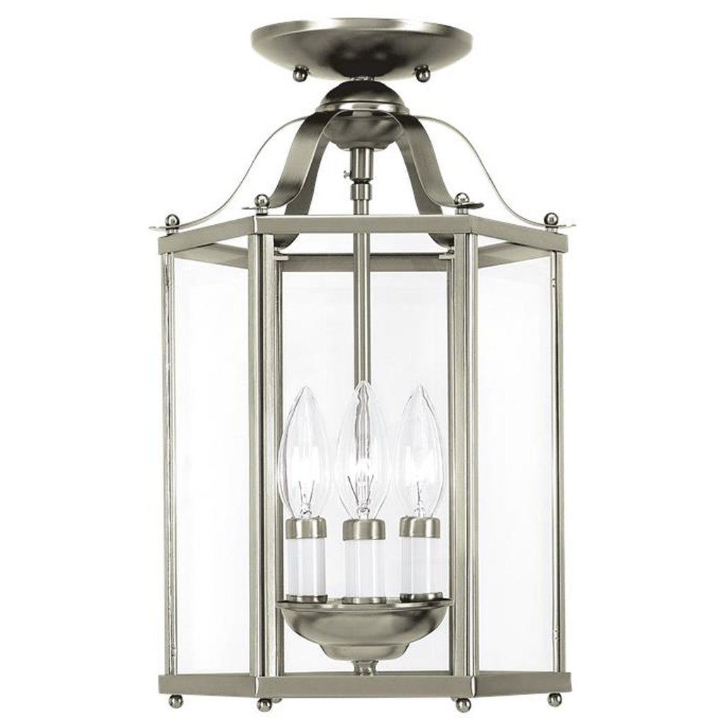 Sea Gull Lighting Bretton Three Light Semi-Flush Convertible Pendant