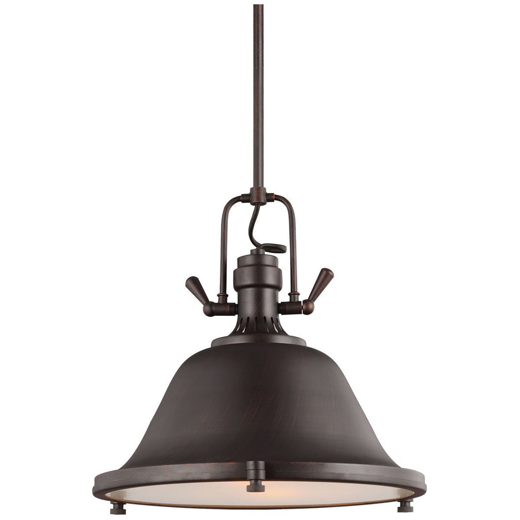 Sea Gull Lighting Stone Street Contemporary Two Light Pendant