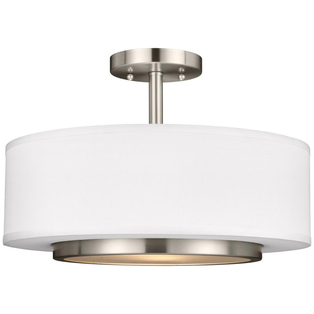 Sea Gull Lighting Nance 2 Light Semi-Flush Convertible Pendant