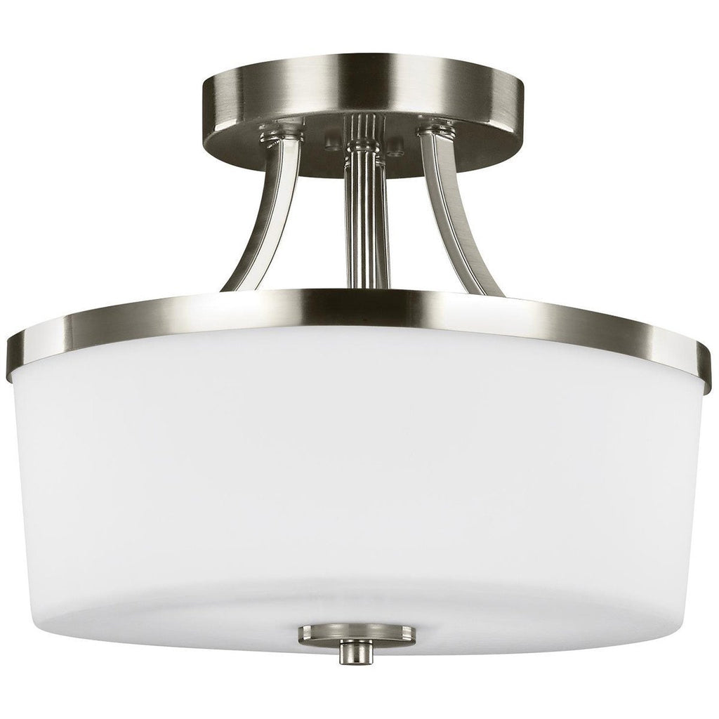 Sea Gull Lighting Hettinger 2Light Semi-Flush Convertible Pendant