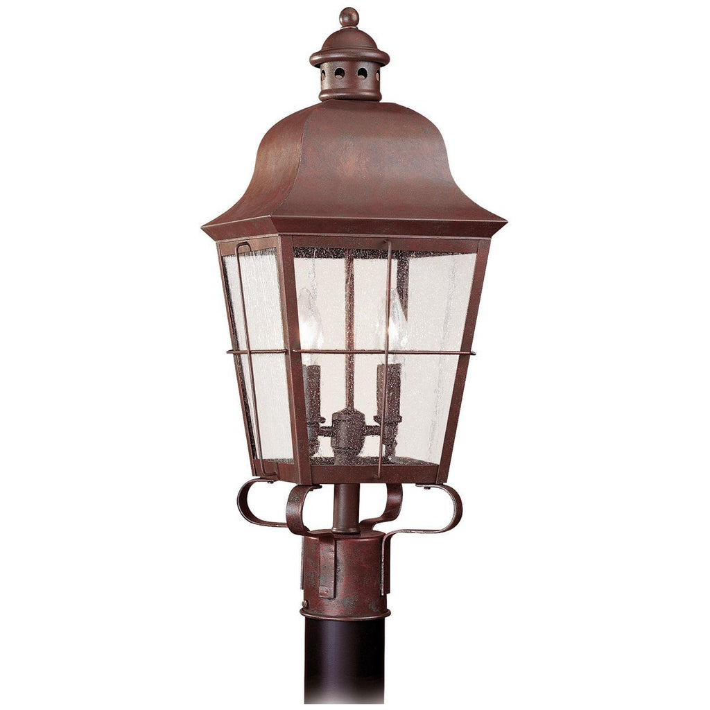 Sea Gull Lighting Chatham Traditional Two Light Outdoor Post Lantern