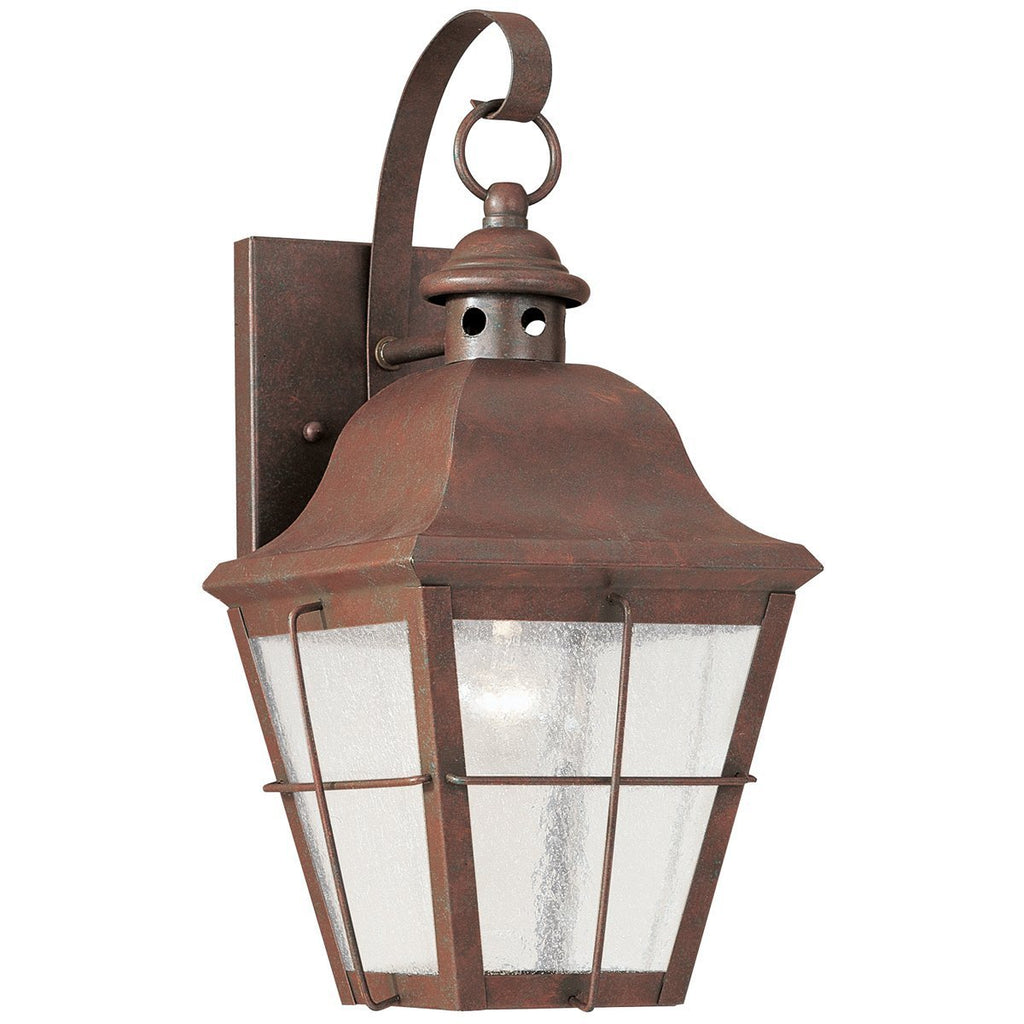 Sea Gull Lighting Chatham Brass One Light Outdoor Wall Lantern