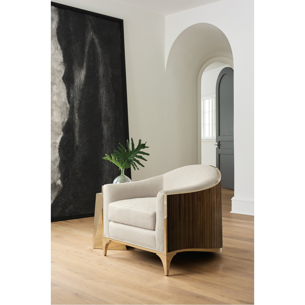 Caracole The Svelte Chair - Majestic Gold, Striped Ebony