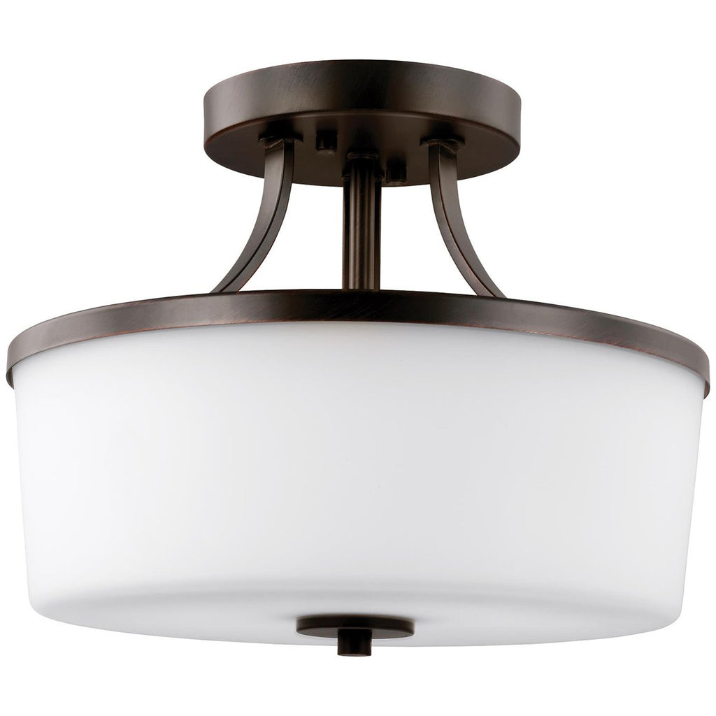 Sea Gull Lighting Hettinger 2-Light Semi Flush Convertible Pendant