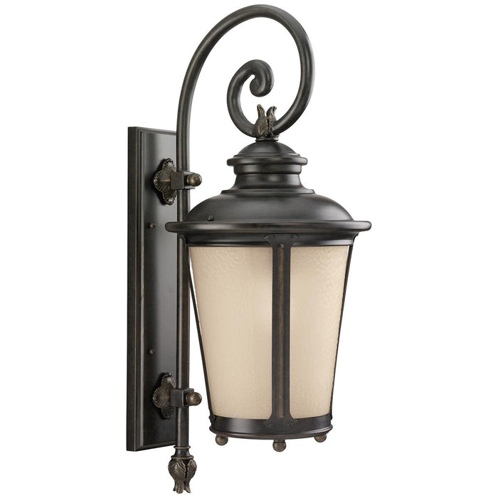 Sea Gull Lighting Cape May 1-Light Outdoor Wall Lantern - Black