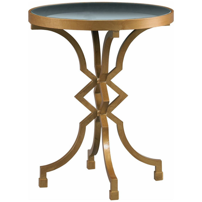 CTH Sherrill Occasional Antique Gold Diamond Accent Table