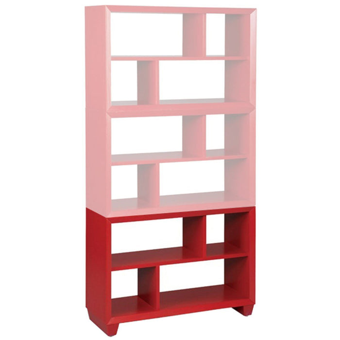 "CTH Sherrill Occasional Spectrum Red 34"" Bookcase End"