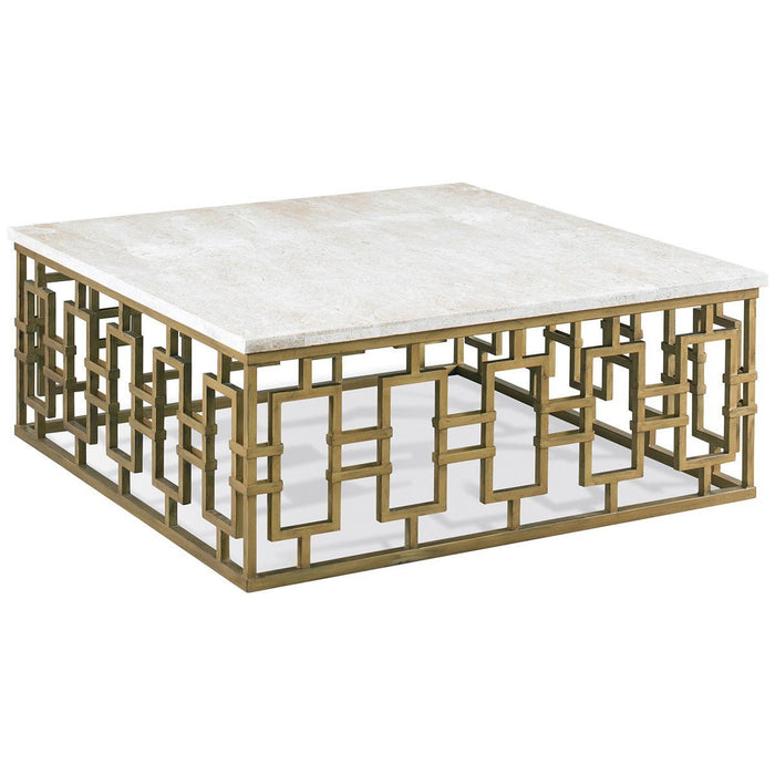 CTH Sherrill Occasional Infinity Gold Chicklet Square Cocktail Table