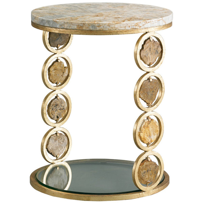 CTH Sherrill Occasional Petrified Wood Accent Table