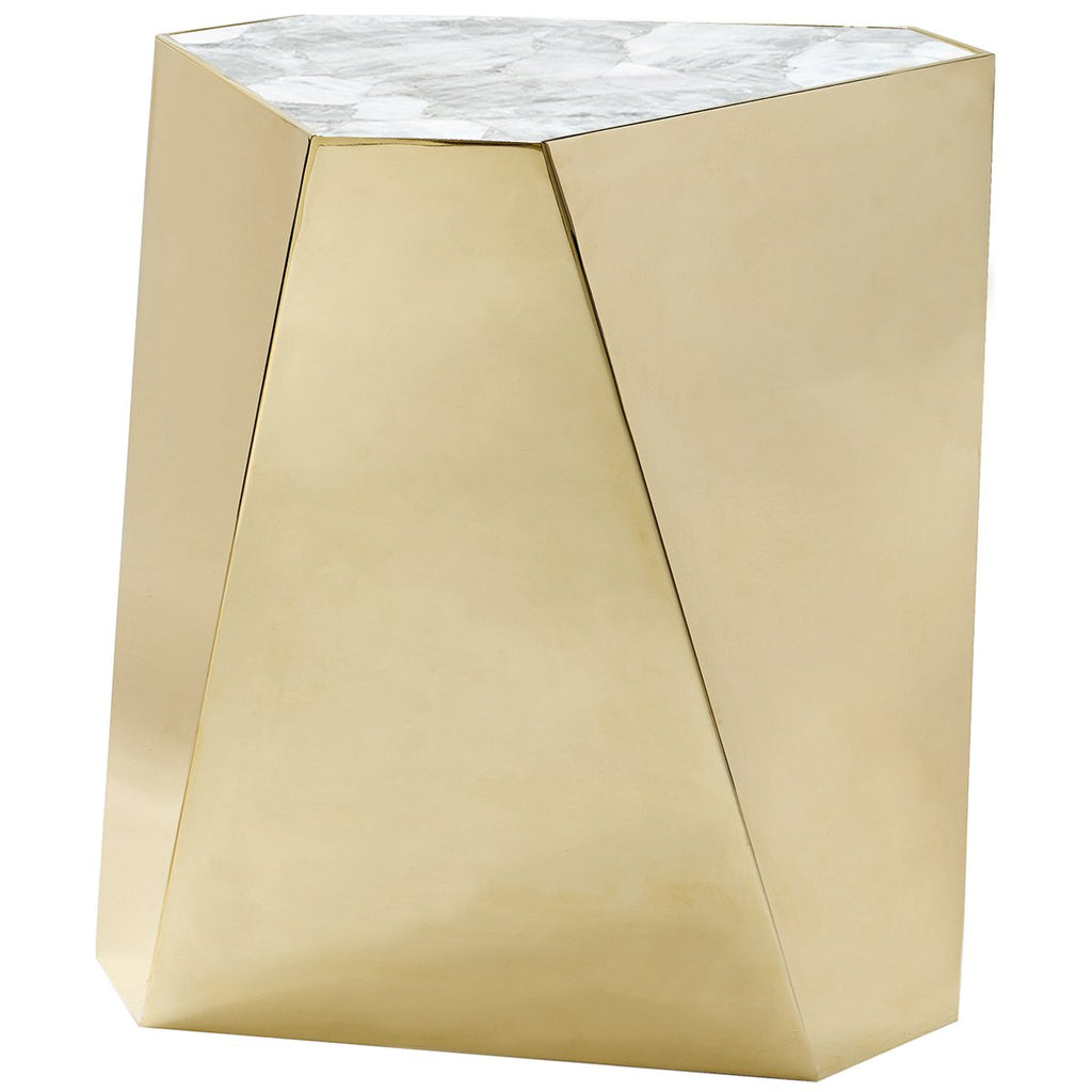 Caracole The Contempo Side Table - Plated Metal