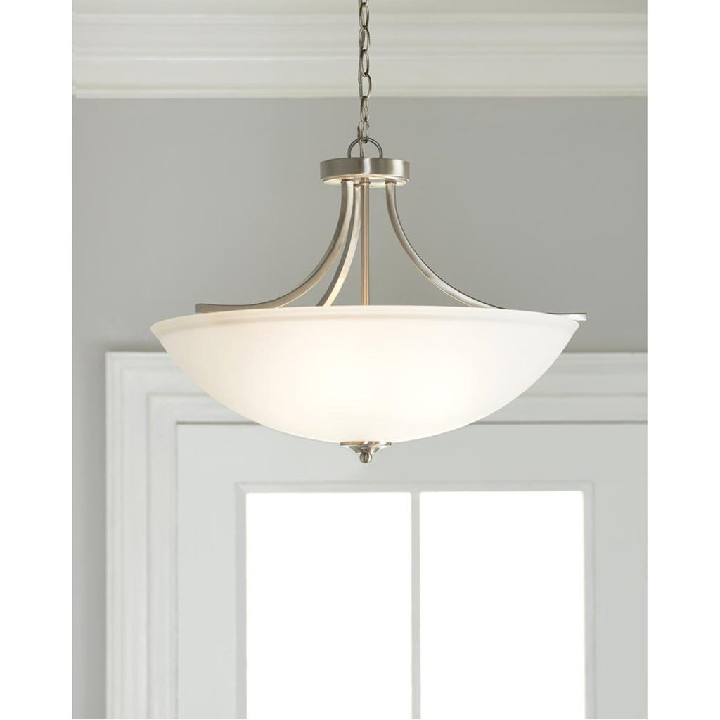 Sea Gull Lighting Geary Large 4-Light Semi-Flush Convertible Pendant