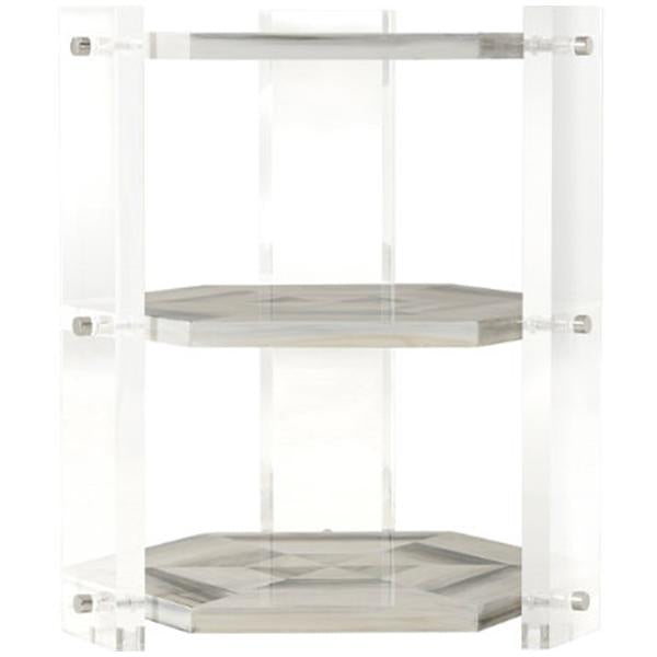 Theodore Alexander Quadrilateral Tiers Side Table